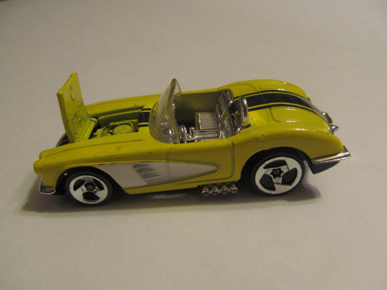 56 chevorlet corvette yellow hot wheels diecast model cars classic cars