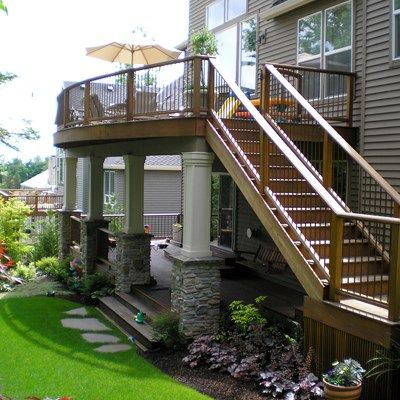 Best 25 free deck design software ideas on pinterest deck design software free building - Two story house plans with covered patios ...
