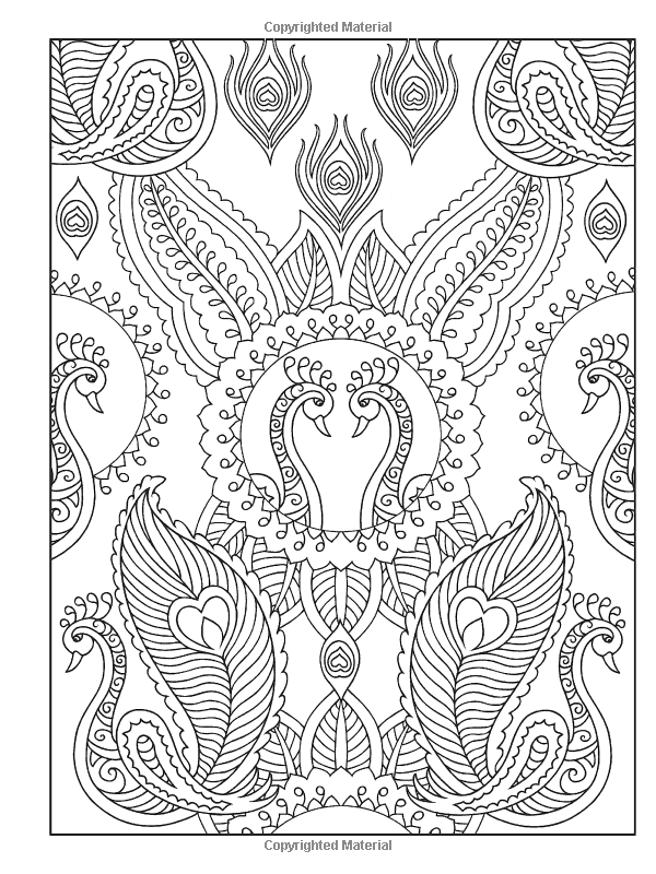 Creative Haven Mehndi Designs Coloring Book Coloring For