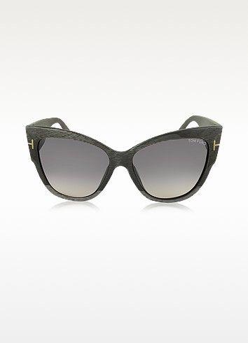 5e751e0c4aa TOM FORD Anoushka Ft0371 38B Dove Grey Cat Eye Sunglasses.  tomford   anoushka ft0371 38b dove grey cat eye sunglasses