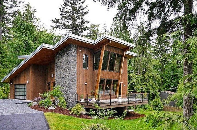Casa de campo - el estilo contemporáneo más natural Diseños de