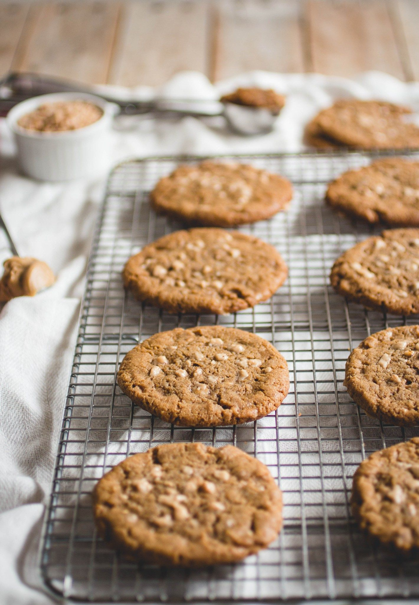 Maple Peanut Butter Toffee Cookies // butterlustblog.com