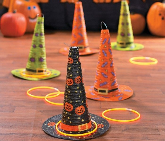 halloween party ideen kinder spiele hexenhut halloween. Black Bedroom Furniture Sets. Home Design Ideas