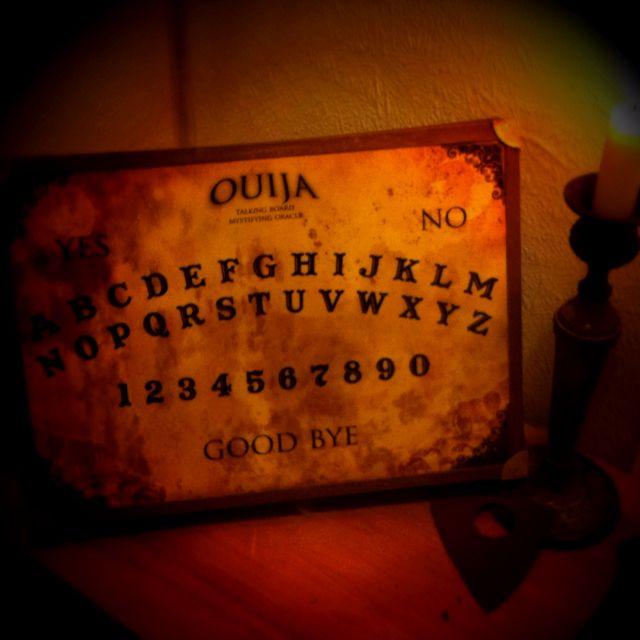 Handmade Ouija board, Halloween 2011