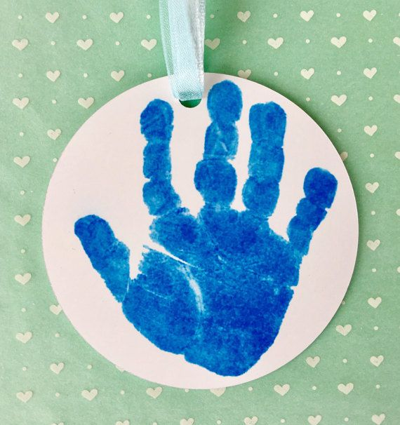 Holiday Handprint Ornament Personalized on by SpecialtyCreations4U