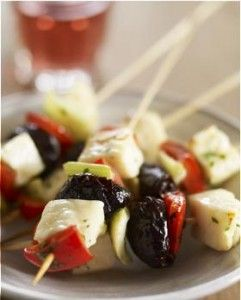 California Prune and Halloumi Satay