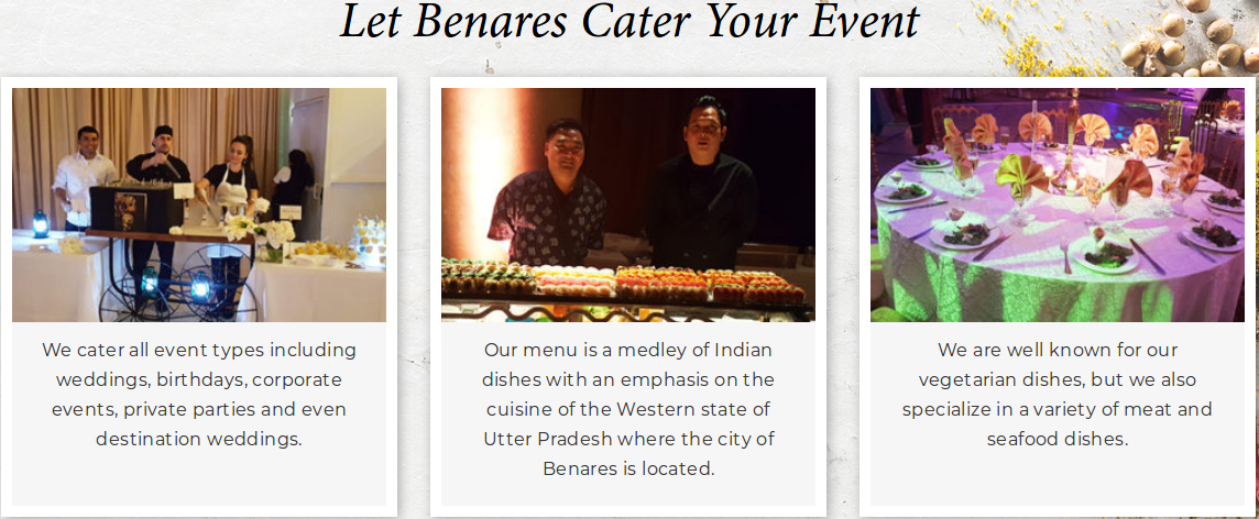 Benares Catering Services Ny Wedding Catering Display Wedding Catering Near Me Catering Display