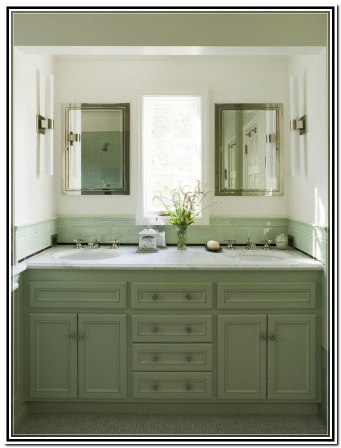 Enjoyable Green Painted Bathroom Vanity Home Decor Ideas Home Download Free Architecture Designs Sospemadebymaigaardcom
