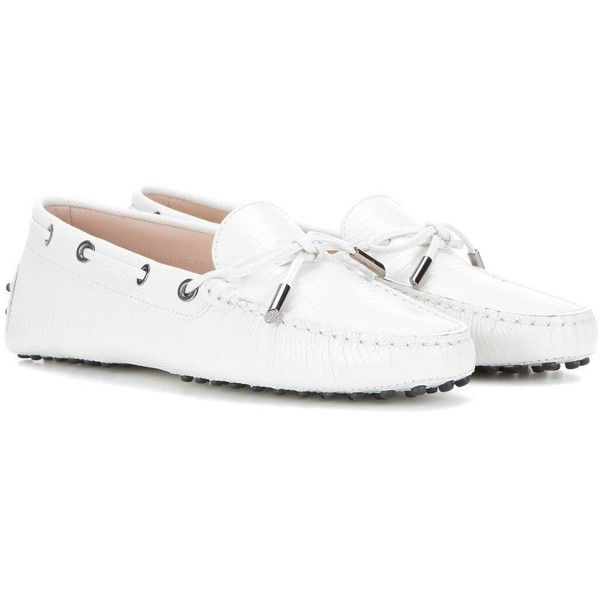 Tod's Heaven New Laccetto Embossed Leather Loafers (€380) ❤ liked on  Polyvore featuring · Tods ShoesFashion ...