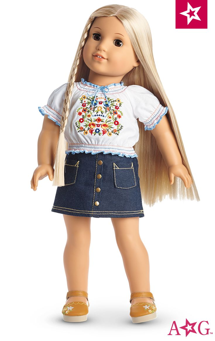 American Girl Doll of the Year McKenna School Outfit Denim Skirt ONLY Retired
