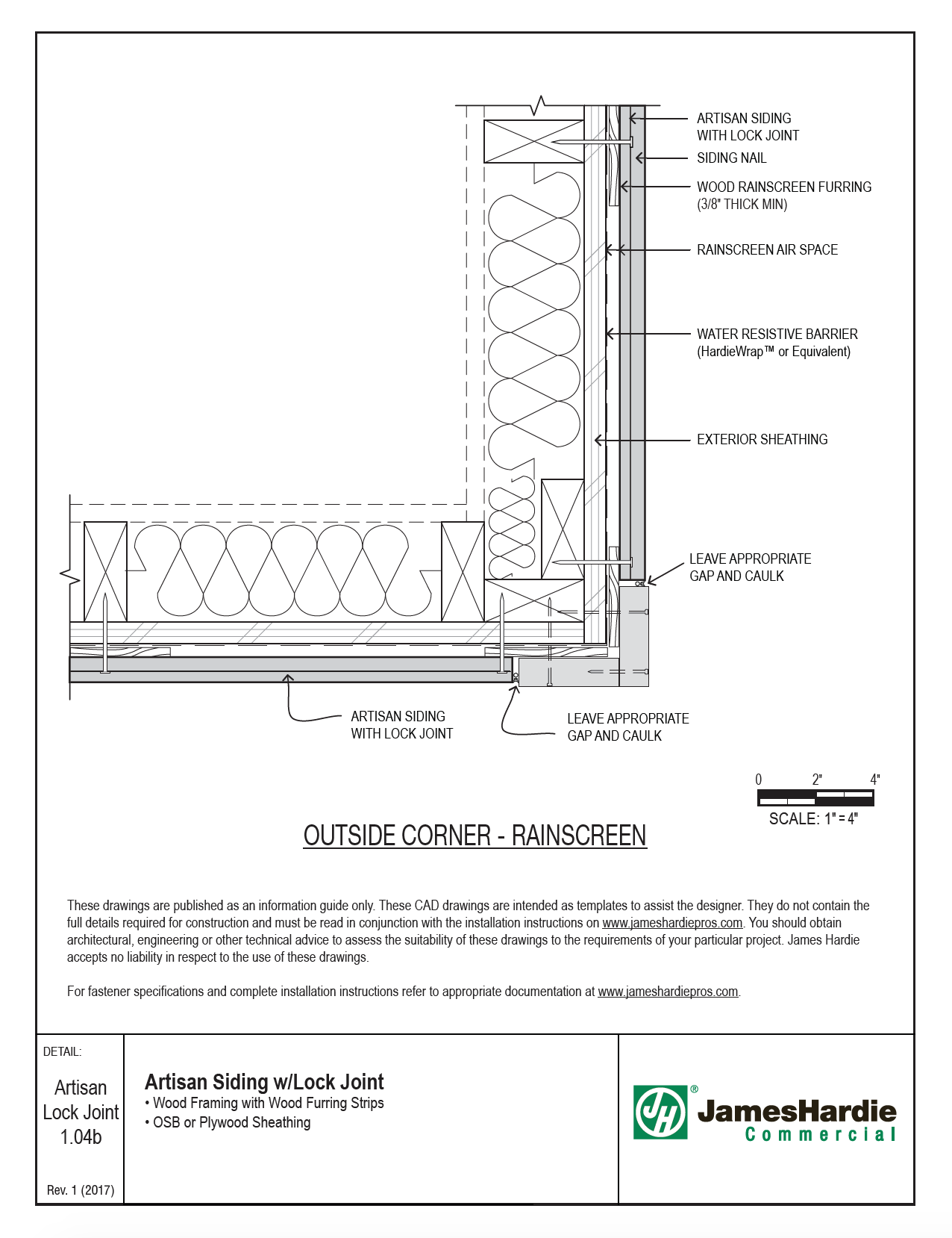 Image result for outside corner exterior insulation rainscreen detail