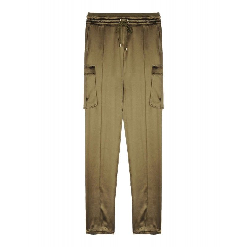 Balmain High-Waisted Silk Pants - Shop more fall chic essentials at ShopBAZAAR.com http://shop.harpersbazaar.com/clothing/pants/balmain-high-waisted-silk-pants/
