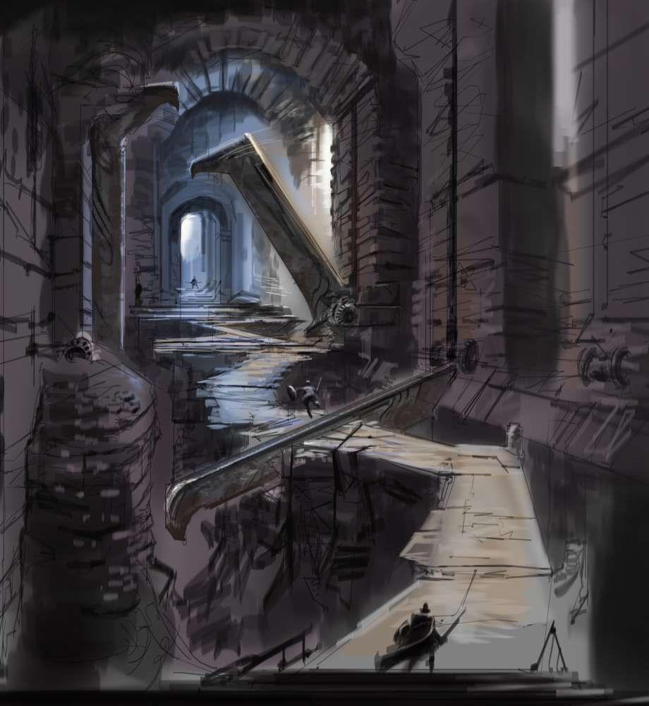 Cleaver Hallway | Skyrim concept art, Fantasy concept art, Skyrim art