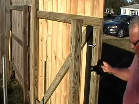 How To Build A Wood Gate In Minutes By Gforcehinge Com Wood Gate Fence Gate Wooden Fence Gate