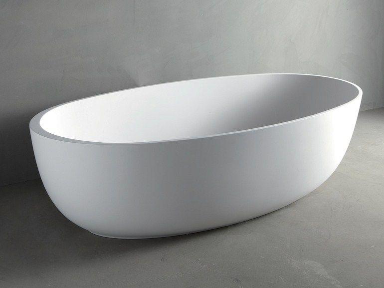 Vasca Da Bagno Ovale : Vasca da bagno ovale in mineralmarmo round by rifra casa