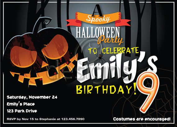 Halloween Digital Party Invitation No 1 by Odesigns on Etsy, €9.00