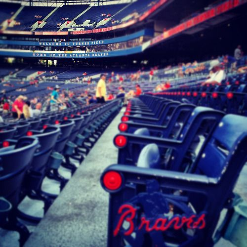<3 Turner Field! Where my heart has always been and where Ryan and I got engaged :)