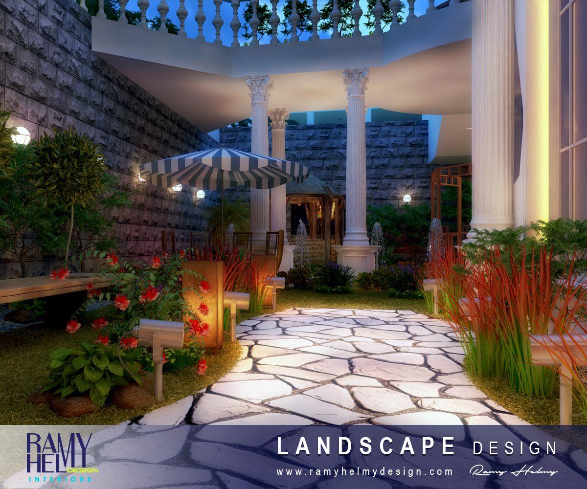 #LandscapeDesign R A M Y H E L M Y D E S I G N شركة تصميم معماري وديكور داخلي بالبحرين Architecture & Interior Design Company in Bahrain