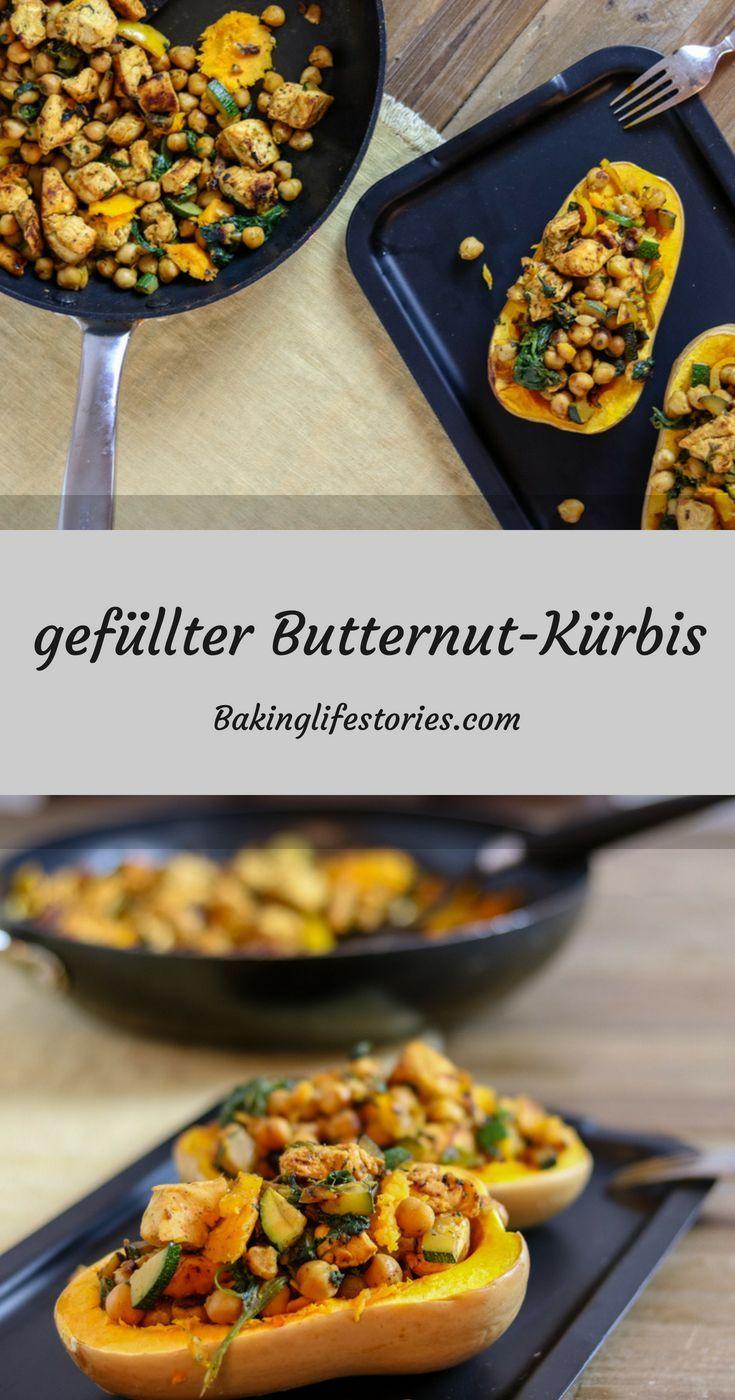 gefüllter Butternut-Kürbis