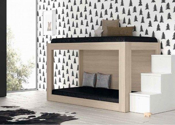 Dormitorio infantil con litera minimalista novedades de for Literas originales para un cuarto juvenil