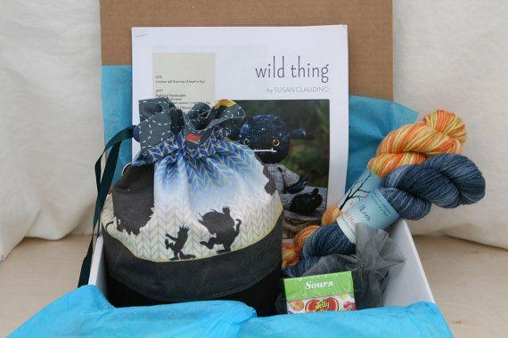 Wild Rumpus  PREORDER  LUXE kit with drawstring by littleskein, $85.00