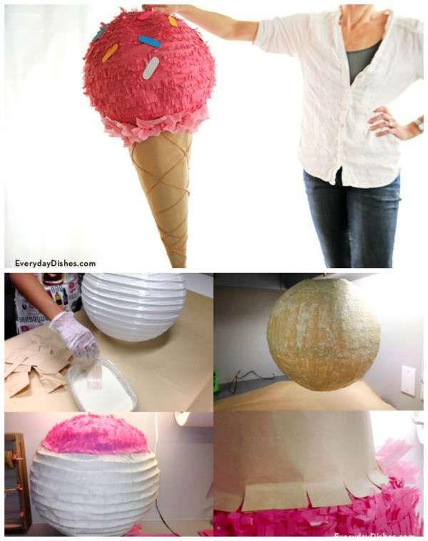 25 id es exceptionnelles pour d corer une lanterne en papier pinterest cornet de glace. Black Bedroom Furniture Sets. Home Design Ideas