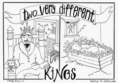 christ the king coloring page - king herod and king jesus coloring page bible stories