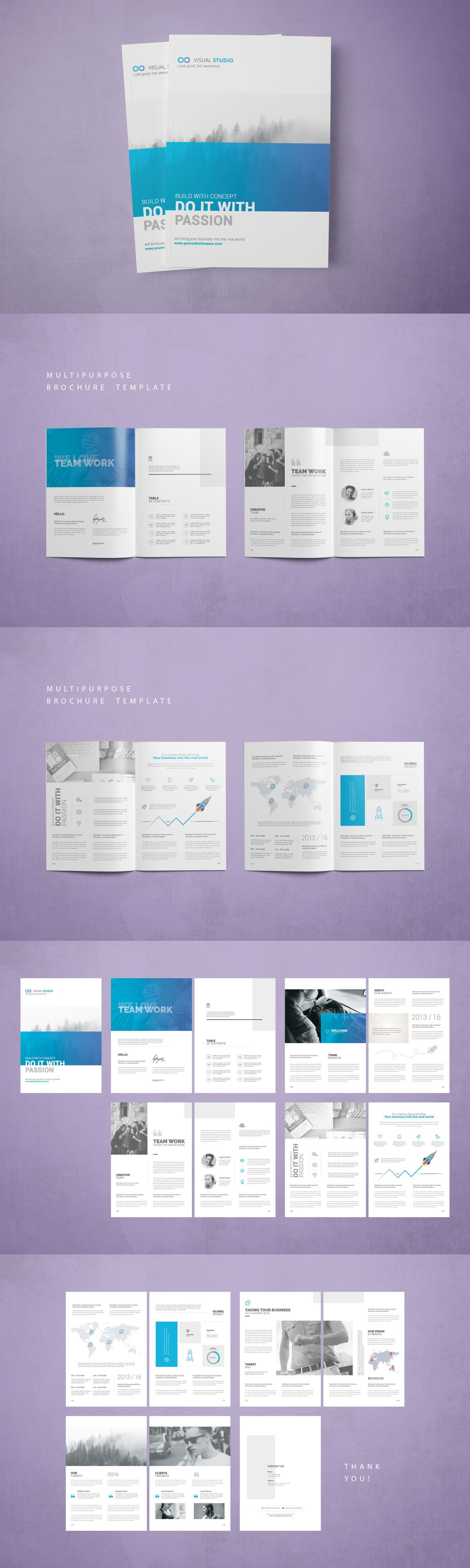 Multipurpose Business Brochure Template Psd 16 Pages Brochure
