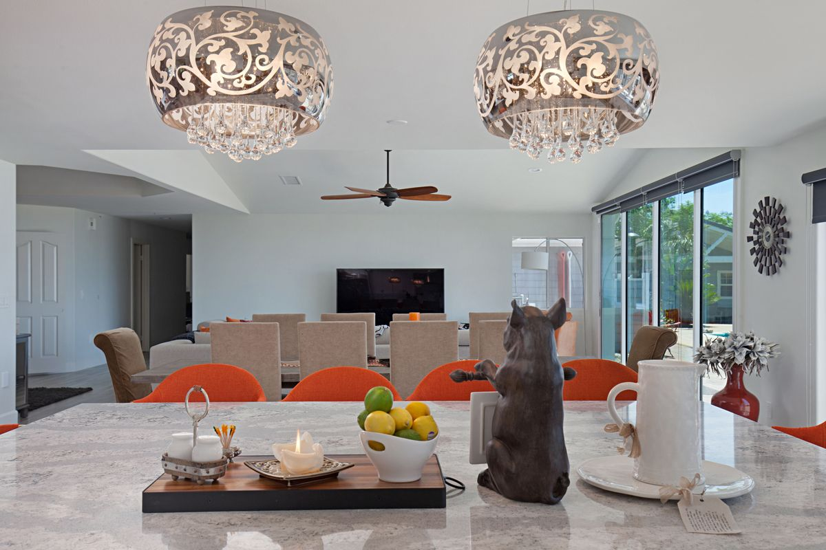 These light fixtures are stunning and a great focal point for the these light fixtures are stunning and a great focal point for the large kitchen expansion we arubaitofo Images