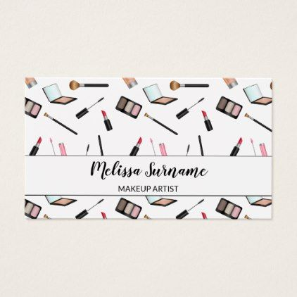 Cute makeup pattern personalizable makeup artist business card cute makeup pattern personalizable makeup artist business card artists unique special customize presents reheart Choice Image