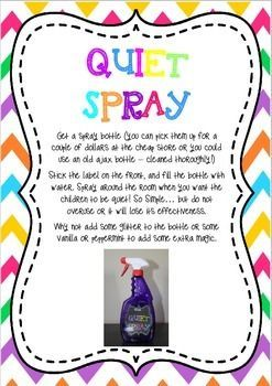Quiet Critters & Quiet Spray Labels and Instructions #quietcritters