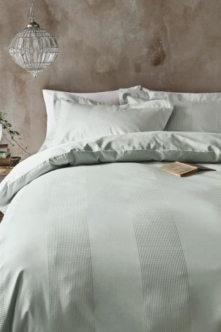 Buy Collection Luxe 300 Thread Count Cotton Waffle Stripe Bed Set From The Next Uk Online Shop King Size Bedding Sets Bedding Sets Bed