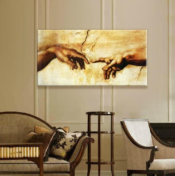 Visit To Buy Large Single Art Painting Canvas Old Masters Michelangelo Buonarroti Classical Wall Picture For Living Room Decor Panel No Small Canvas Art Canvas Art Living Room Art