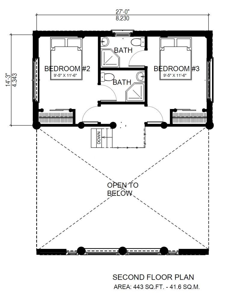 Horseshoe Bay Log Cabin Alternate Floor Plan North American Log Crafters Log Cabin Plans Beach Cottage House Plans Tiny House Vacation