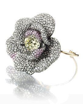 Diamond Camellia Bangle