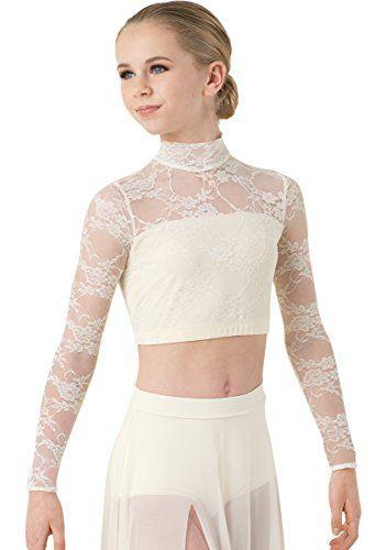 19176c71e428 Balera Lyrical Dance Crop Top Long Sleeve Mock Neck Lace ... //. Amazon.com/dp/B01HP2YHEK/refu003dcm_sw_r_pi_dp_x_RTqPybJ4EJ9FT  Sc 1 St Pinterest