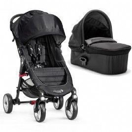 Black Baby Jogger Foldable Pushchair Carrycot For City Elite 2 Single Strollers Jet