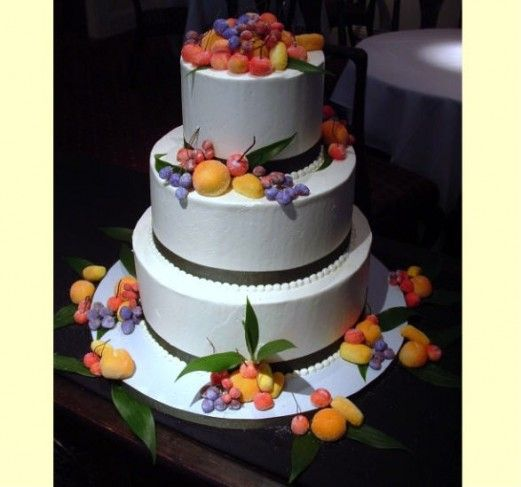 Sugared Marzipan Fruits Wedding Cake Let Them Eat Cake
