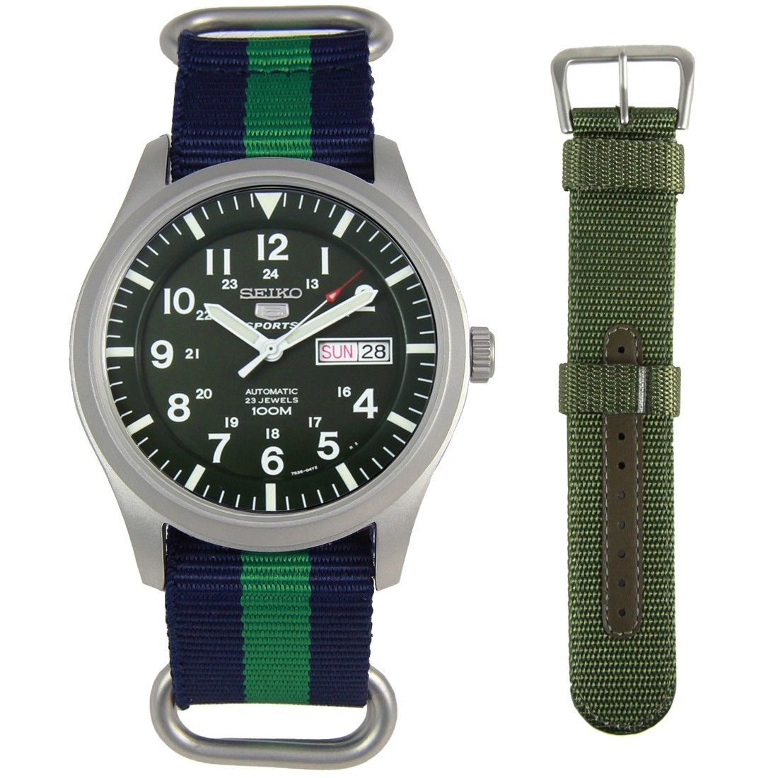 SNZG09K1 Seiko 5 Sports Watch + ADDITIONAL STRAP #sportswatches