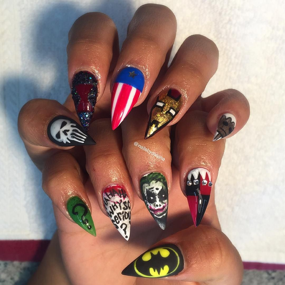 mer_armen_quir_ wanted them sooo she got them! Marvel vs. DC Nails ...