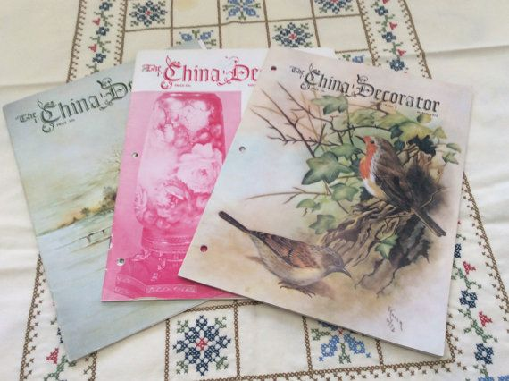 China Decorator Magazines 1970s Porcelain by InTheHeartofDixie