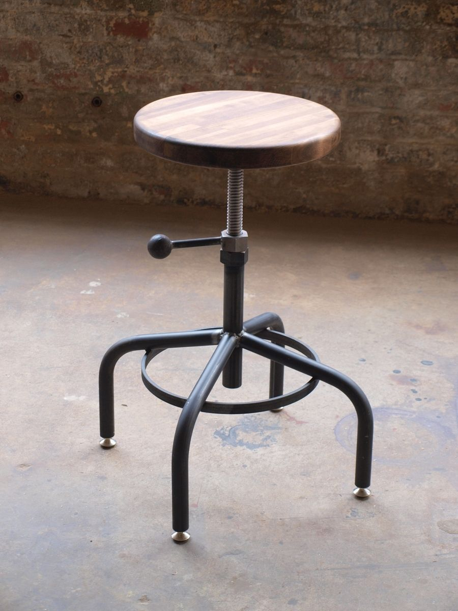 industrial adjustable drill press stool bar stools pinterest
