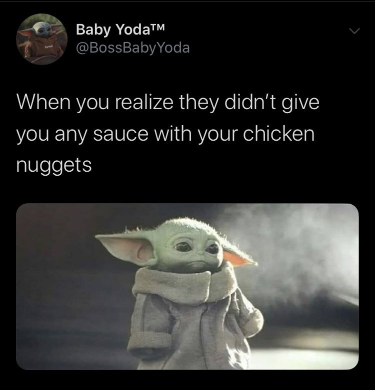 Pin By Jason Campbell On Geek Pics For The Geek In Us All Yoda Meme Yoda Funny Chicken Nuggets