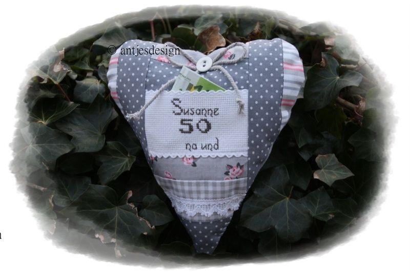 Edles Geldgeschenk 50. Geburtstag ShabbyChic von Antjes Design auf DaWanda.com