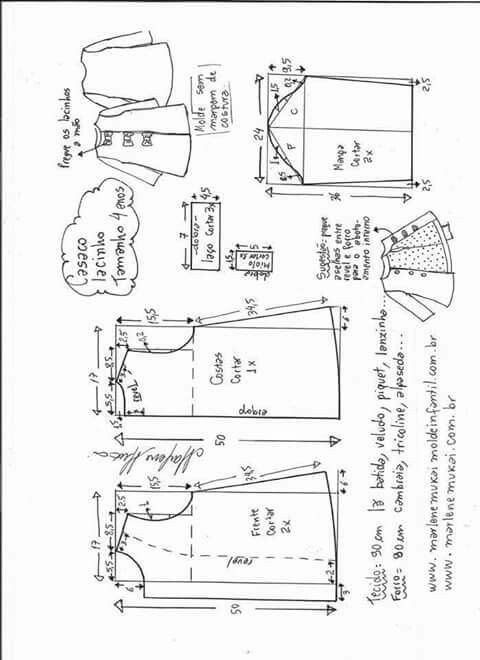 Pin de Brigitte Barguil en Niñas   Pinterest   Costura, Patrones ...