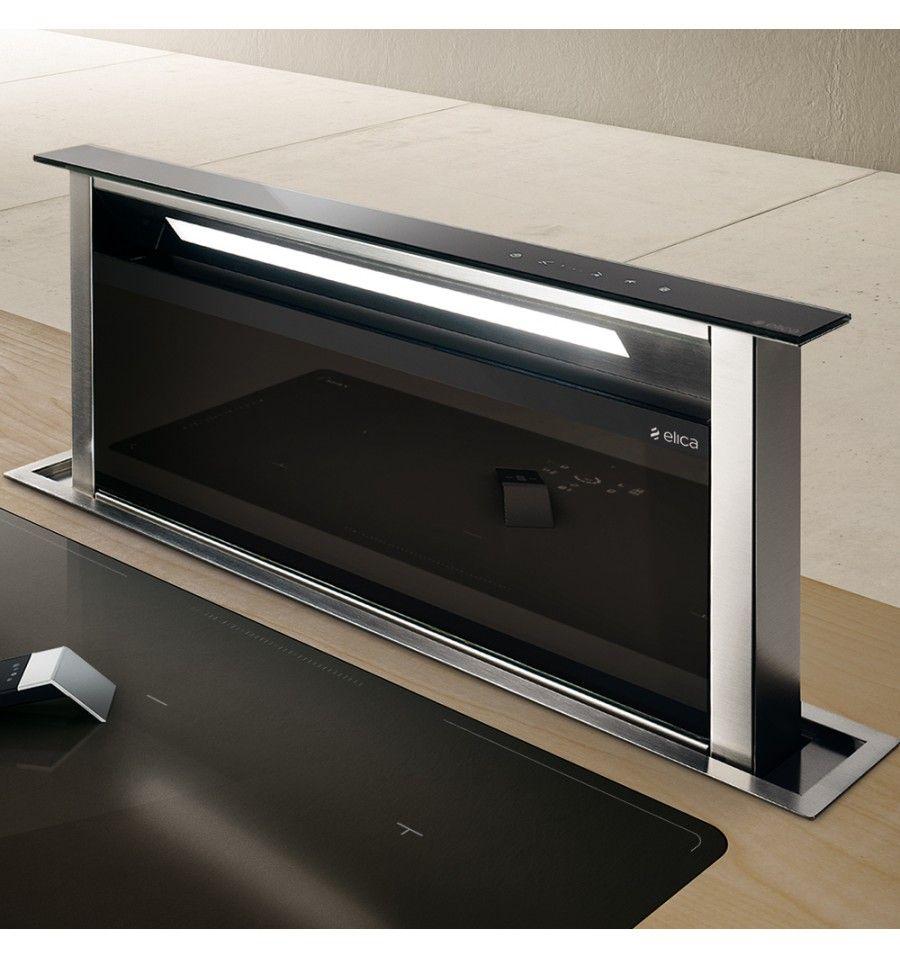 Hotte Plan De Travail Elica Adagio 60cm Verre Noir Prf00099421 In