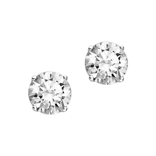 Fred Meyer Jewelers 1 Ct Tw Diamond Solitaire Earrings