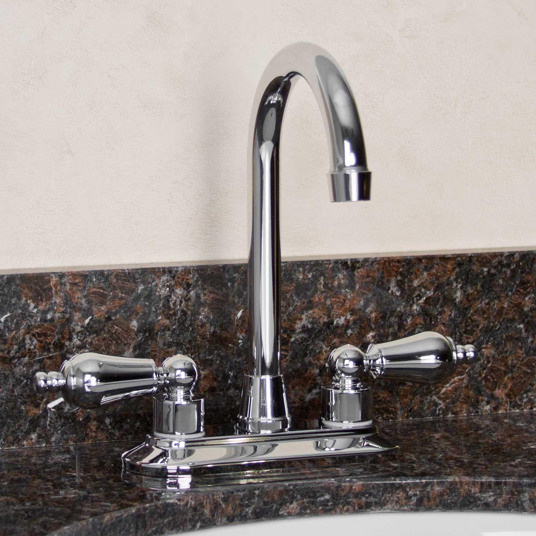 "BAR - Option 1 - 4"" Mackenzie Centerset Bar Faucet - Chrome w/ Stainless steel   Signature Hardware SKU: 905122 (59.95)"