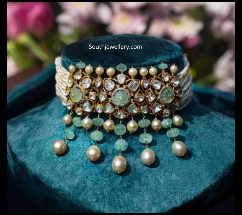 polki emerald earrings