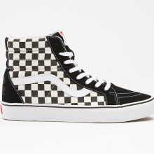 dddde52d39 Black   White checkered Hi-top Vans